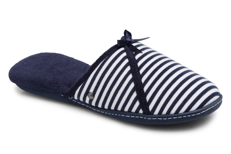Chaussons Isotoner Mule semelle ergonomique Bleu vue détail/paire