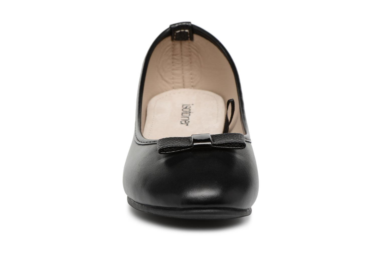 Ballerines Isotoner Ballerine nœud animal Noir vue portées chaussures