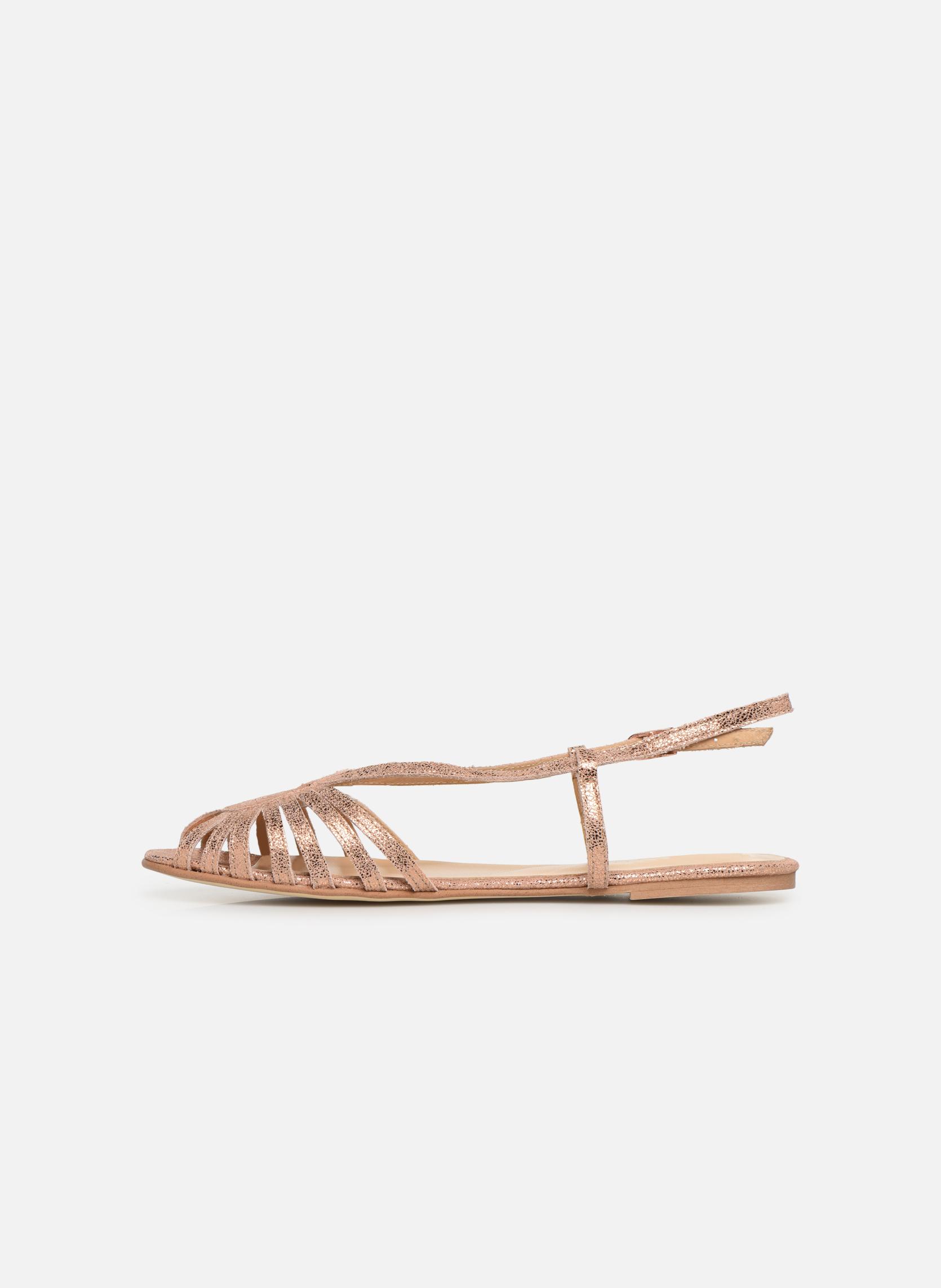 Sandales et nu-pieds Jonak DISCUT Or et bronze vue face