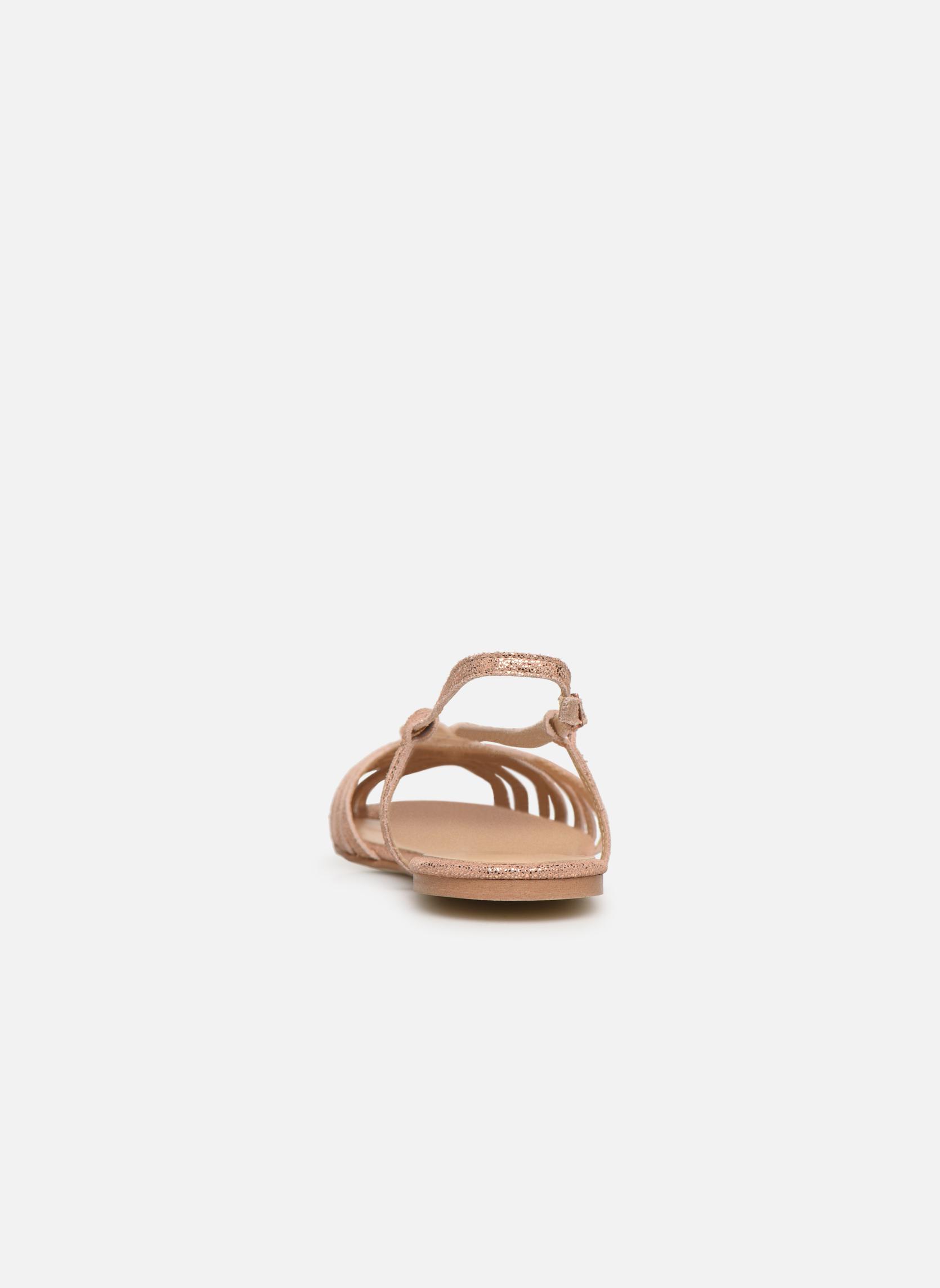 Sandales et nu-pieds Jonak DISCUT Or et bronze vue droite