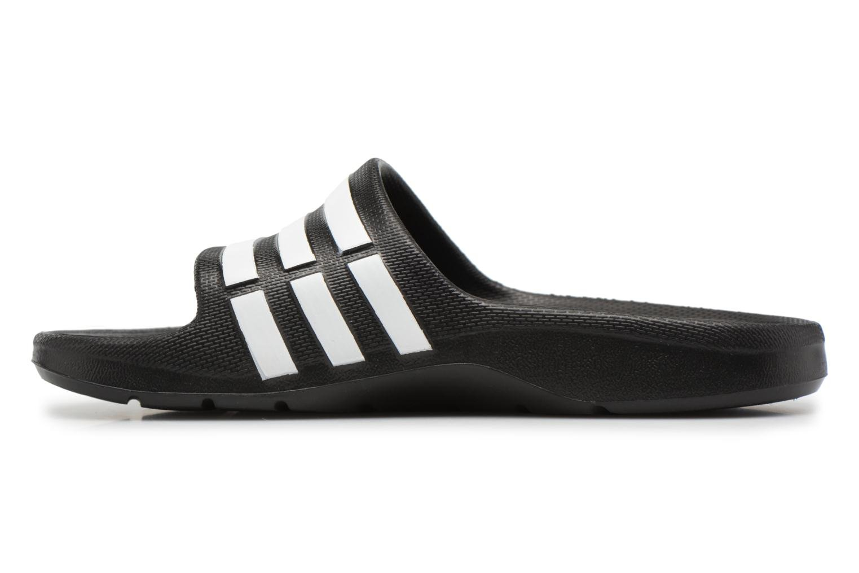 Sandales et nu-pieds Adidas Performance Duramo Slide K Noir vue face