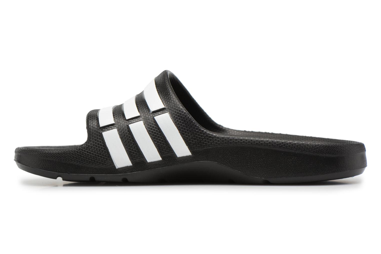 Sandali e scarpe aperte Adidas Performance Duramo Slide K Nero immagine frontale