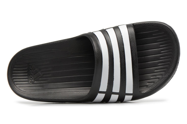 Sandali e scarpe aperte Adidas Performance Duramo Slide K Nero immagine sinistra
