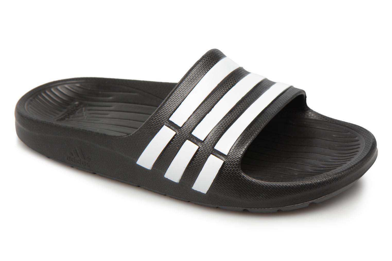 Sandales et nu-pieds Adidas Performance Duramo Slide K Noir vue détail/paire