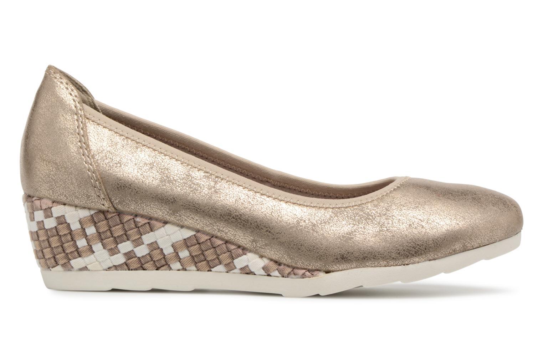 Ballerines Jana shoes Chelo Or et bronze vue derrière
