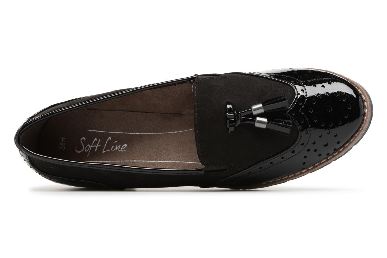 Mocassins Jana shoes Flor Noir vue gauche