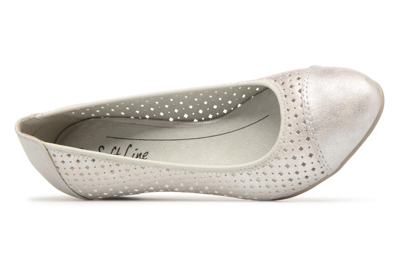 Ballerines Jana shoes Dania Argent vue gauche
