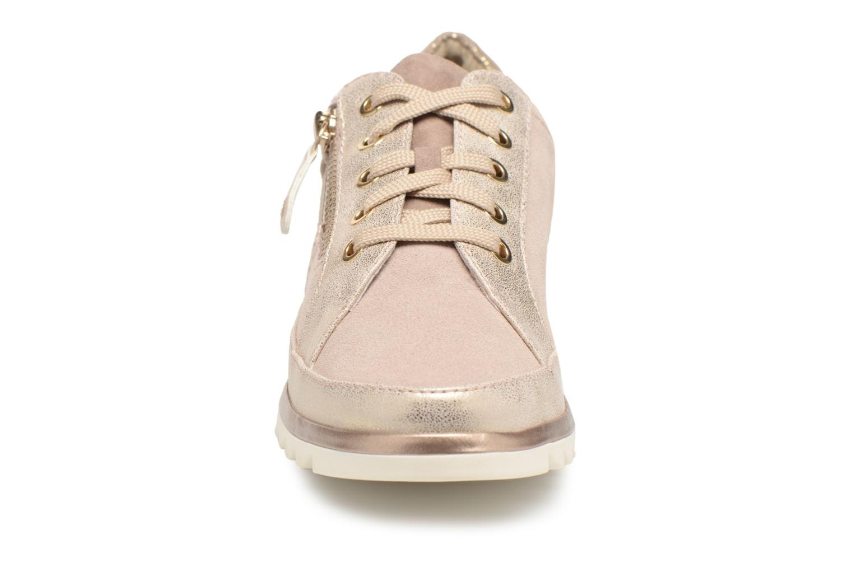 Baskets Jana shoes Madena Or et bronze vue portées chaussures