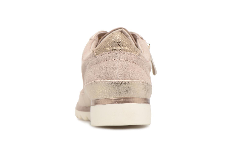 Baskets Jana shoes Madena Or et bronze vue droite