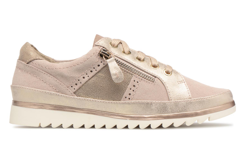 Baskets Jana shoes Madena Or et bronze vue derrière
