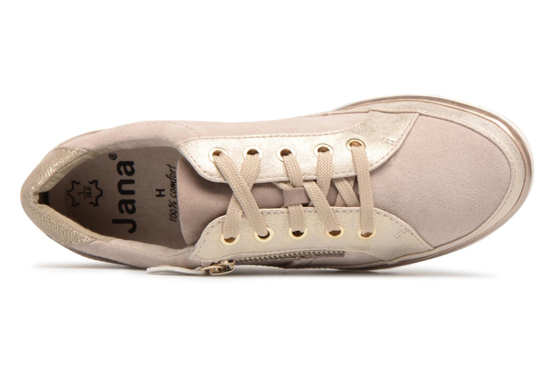 Baskets Jana shoes Madena Or et bronze vue gauche