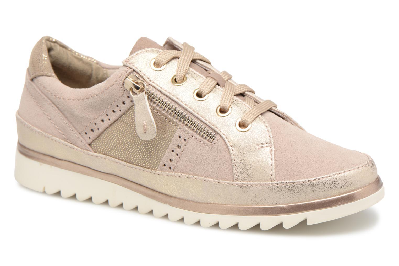 Baskets Jana shoes Madena Or et bronze vue détail/paire