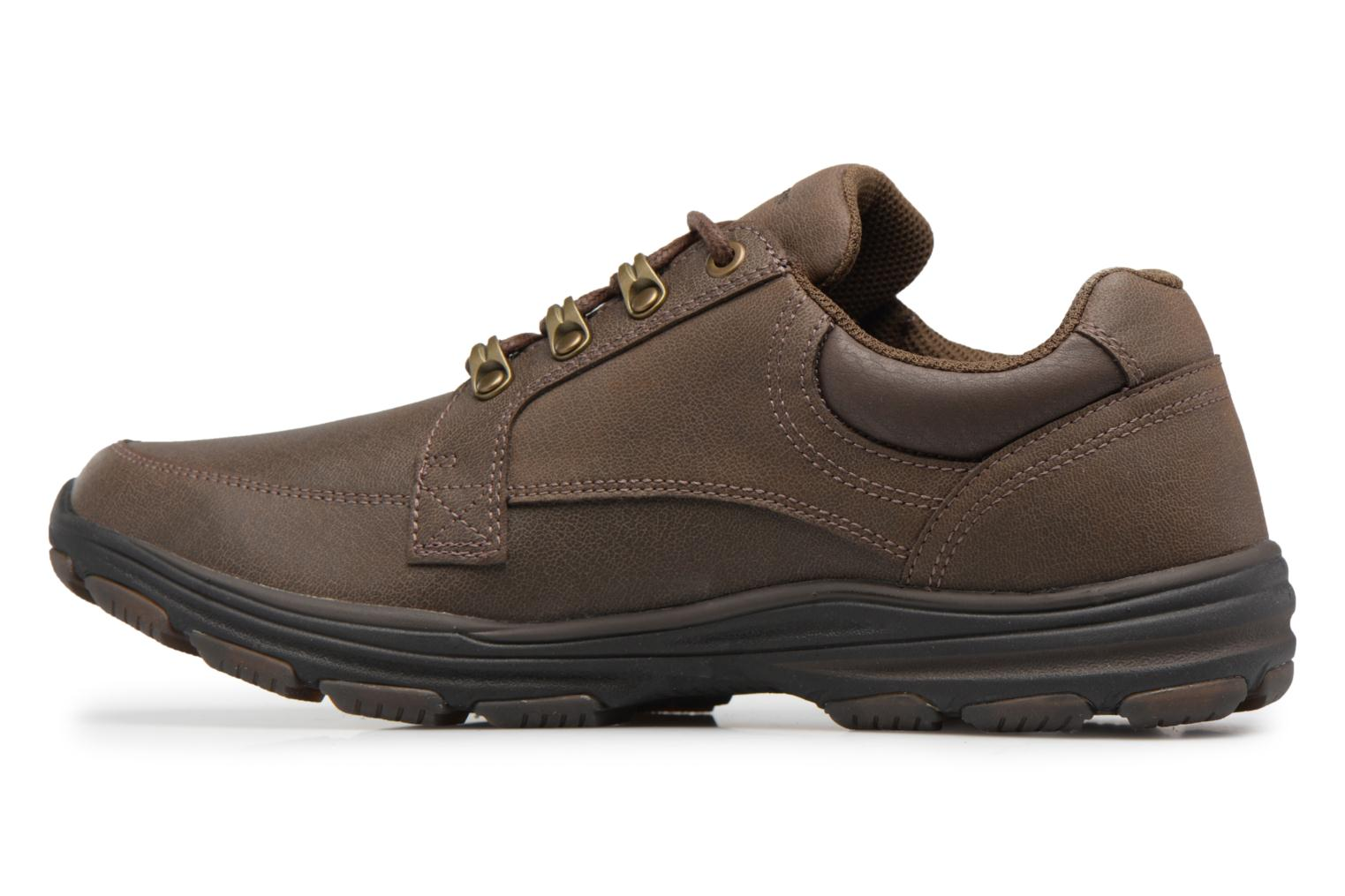 Baskets Skechers Garton-Briar Marron vue face