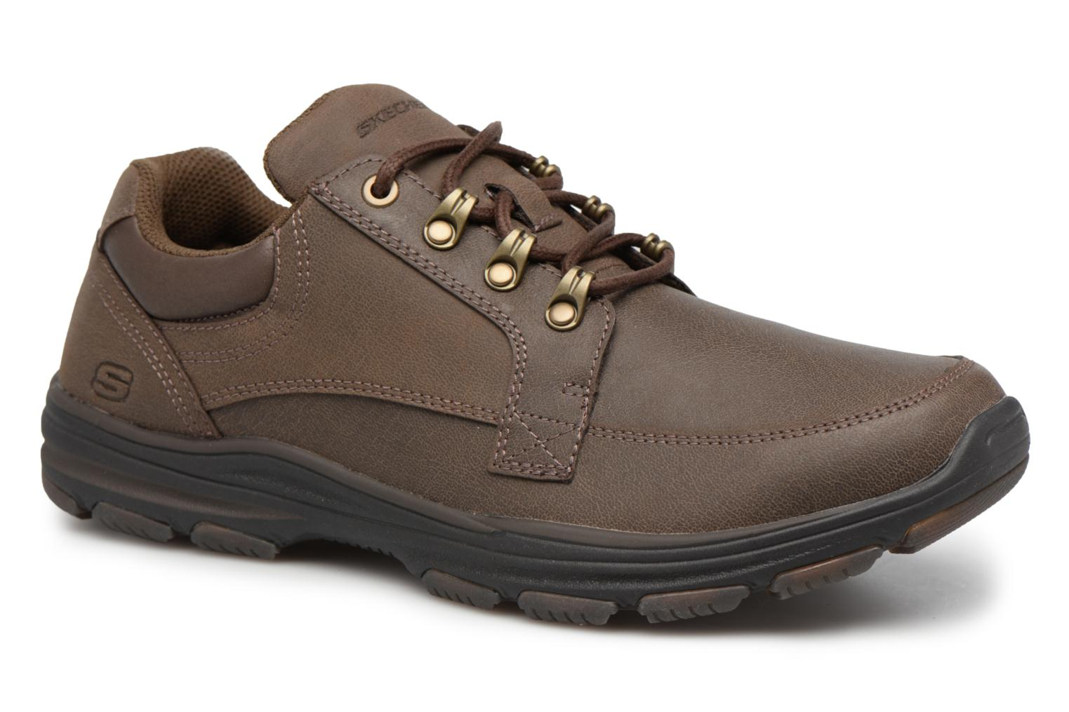 Baskets Skechers Garton-Briar Marron vue détail/paire