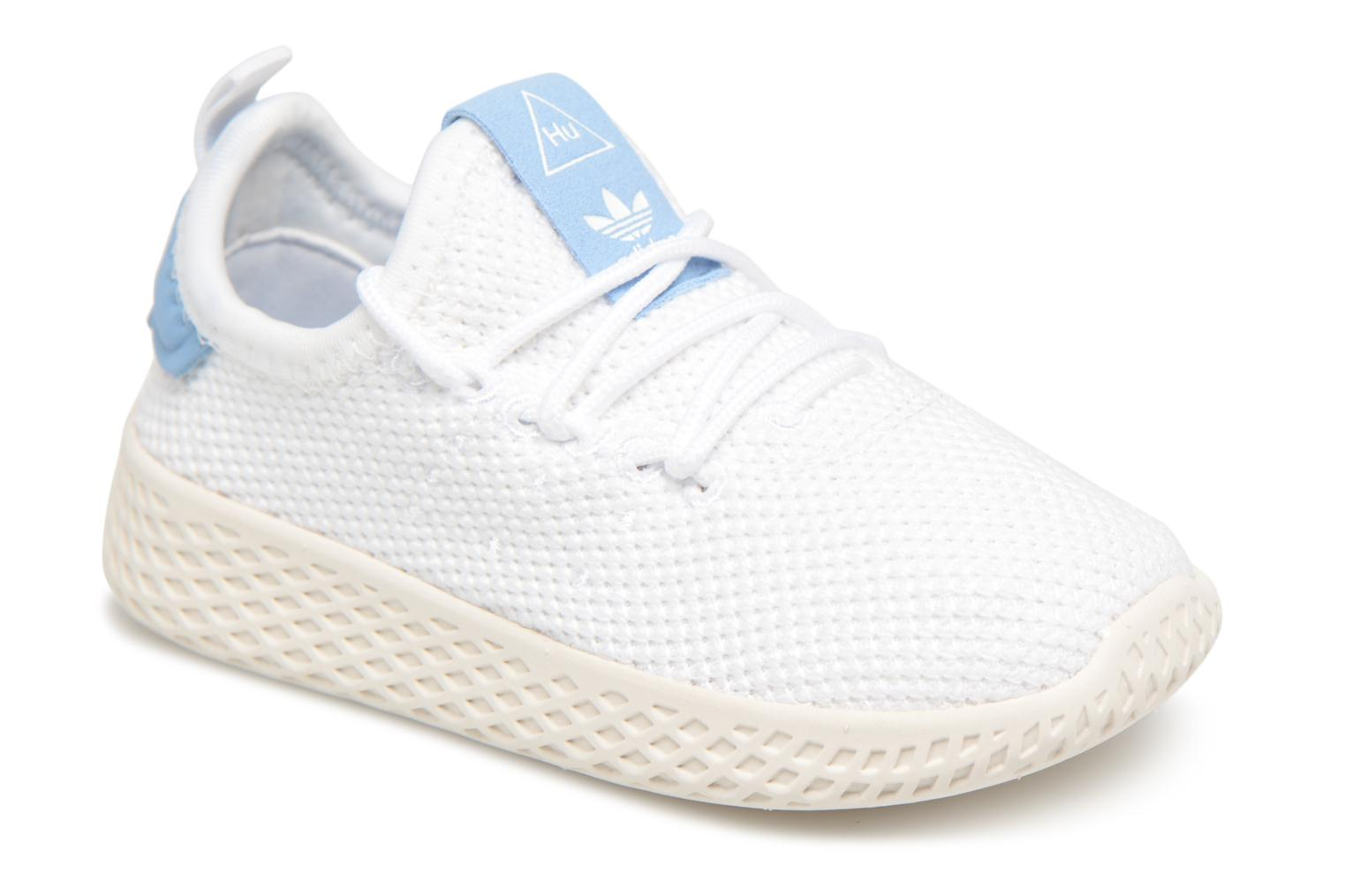 Baskets Adidas Originals Pharrell Williams Tennis Hu I Blanc vue détail/paire