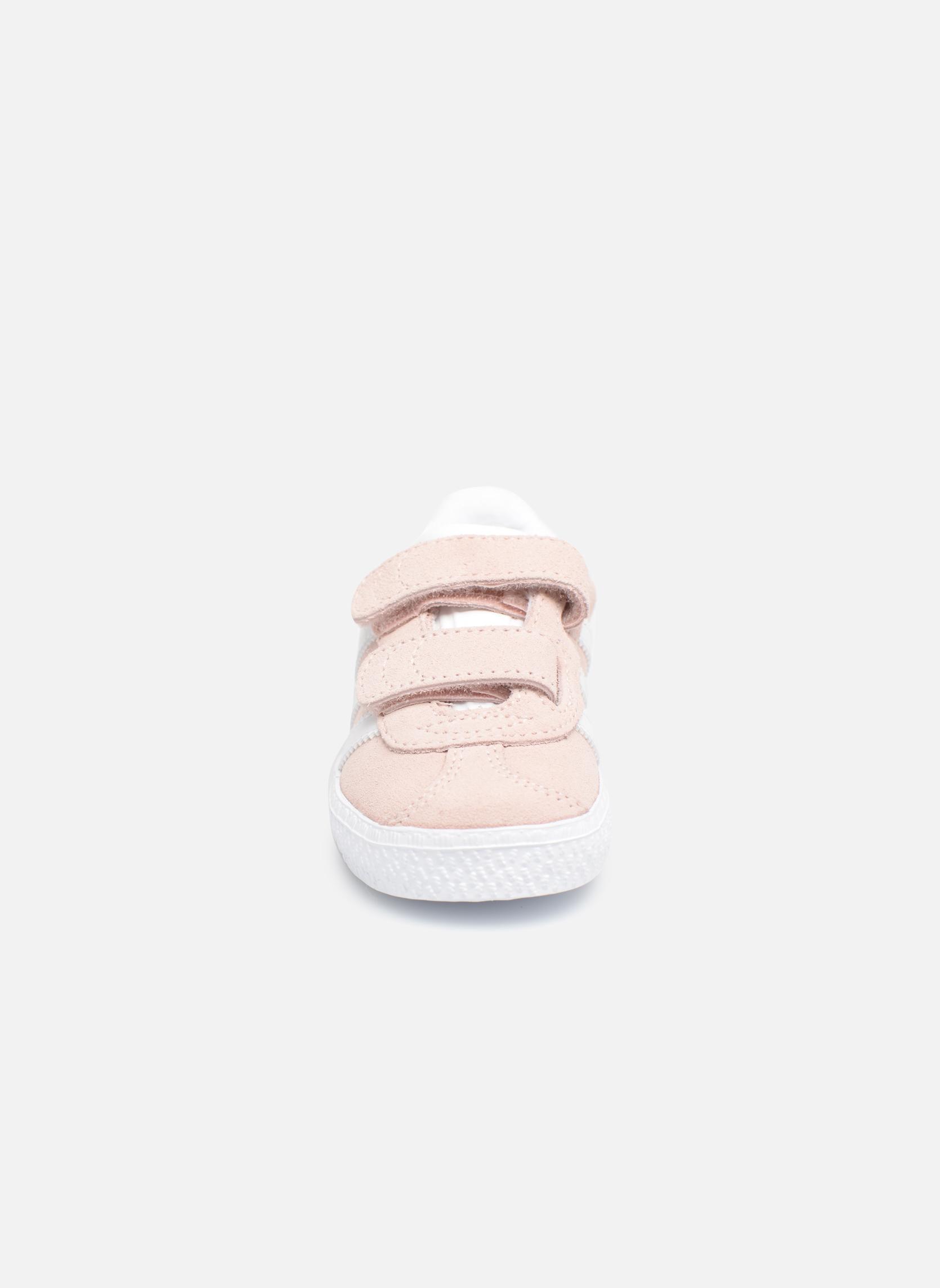 Baskets Adidas Originals Gazelle Cf I Rose vue portées chaussures