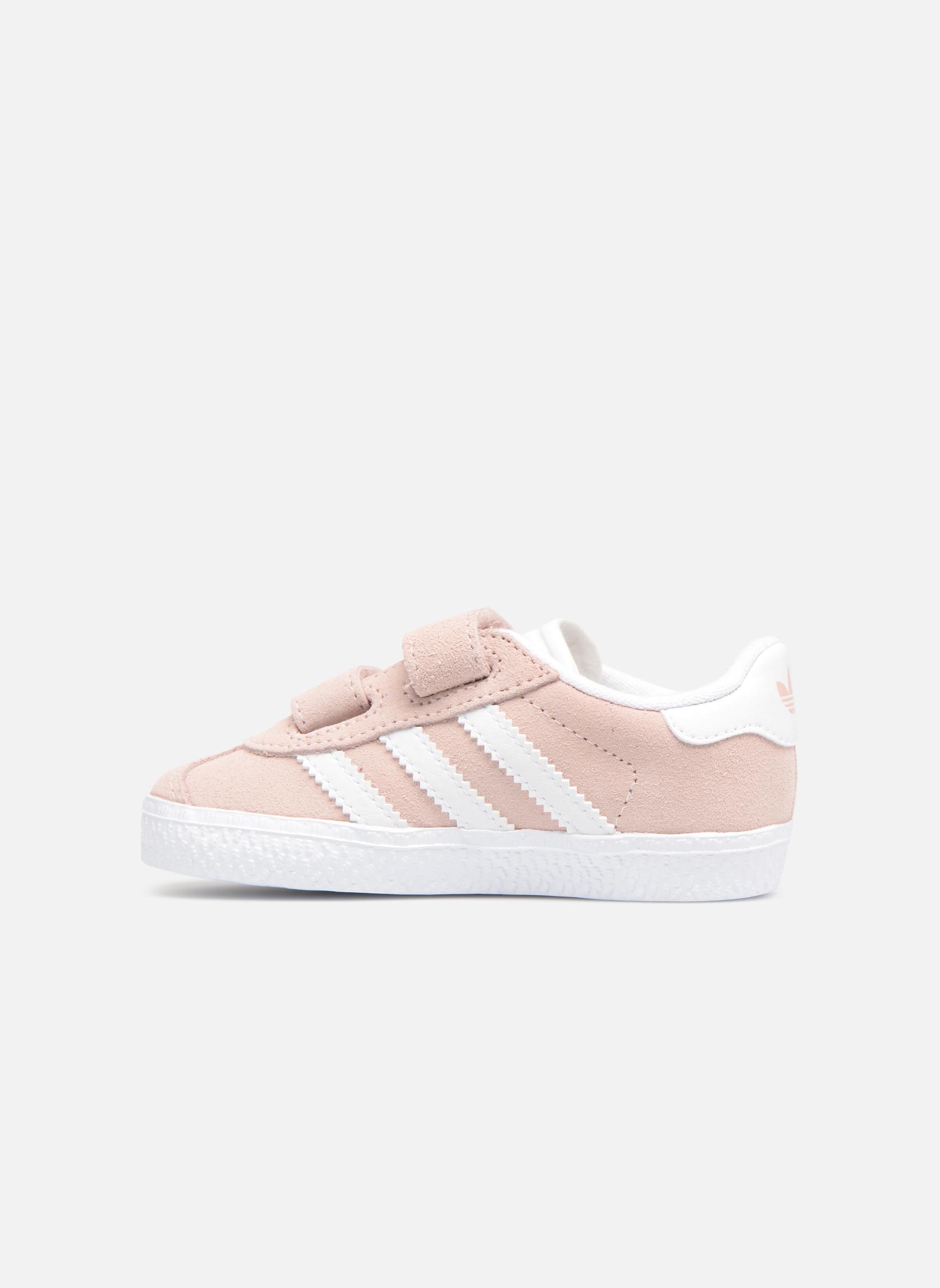 Baskets Adidas Originals Gazelle Cf I Rose vue face
