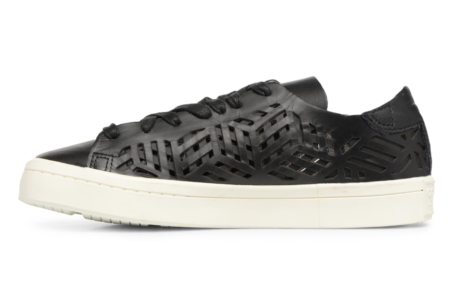 Baskets Adidas Originals COURTVANTAGE CUTOUT Noir vue face