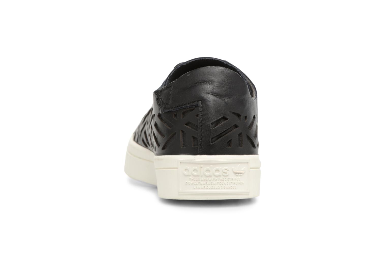 Baskets Adidas Originals COURTVANTAGE CUTOUT Noir vue droite