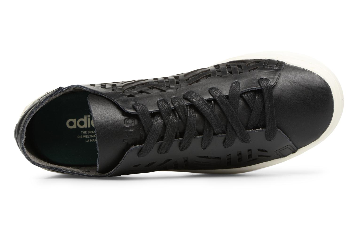 Baskets Adidas Originals COURTVANTAGE CUTOUT Noir vue gauche