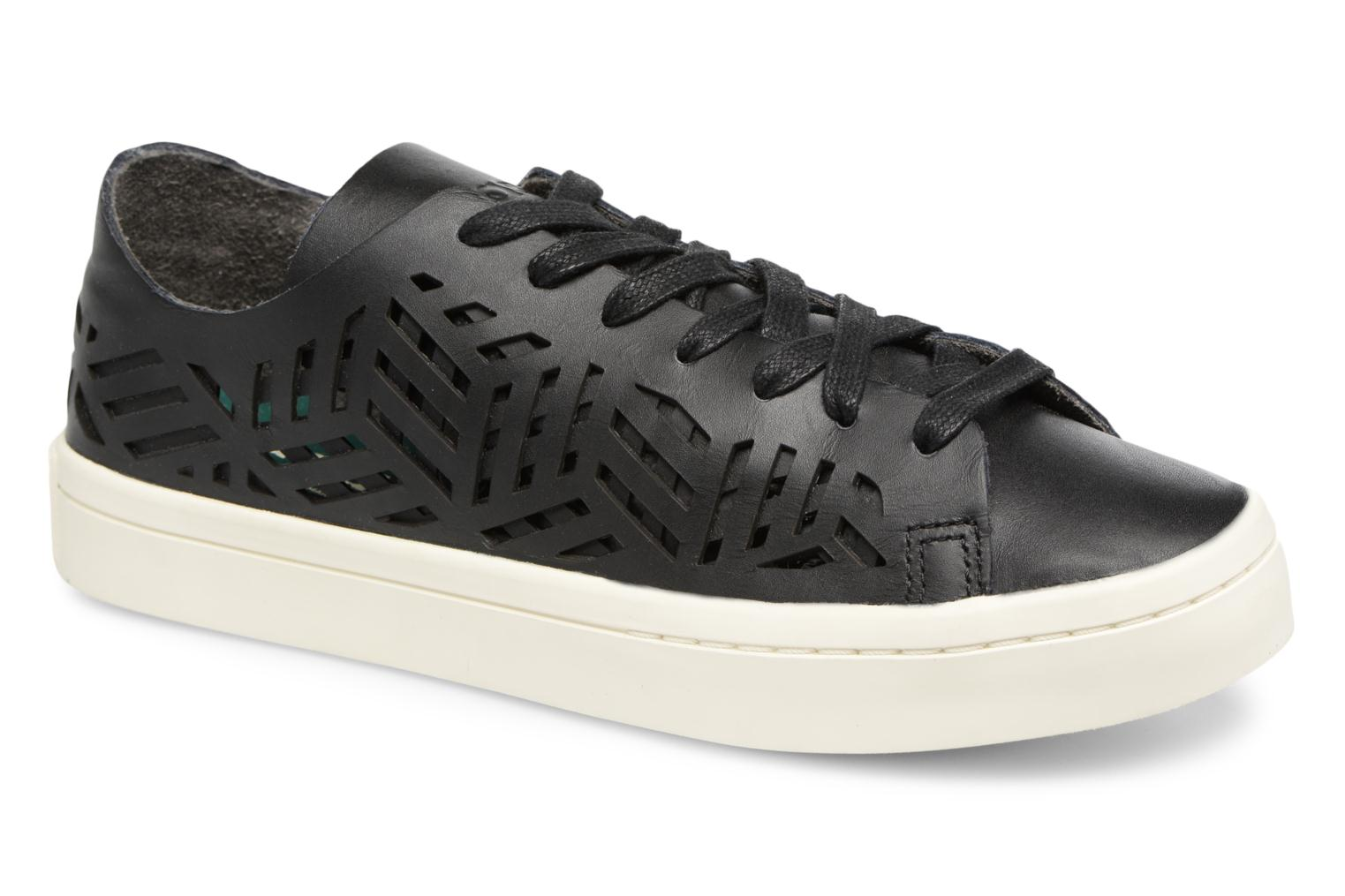 Baskets Adidas Originals COURTVANTAGE CUTOUT Noir vue détail/paire