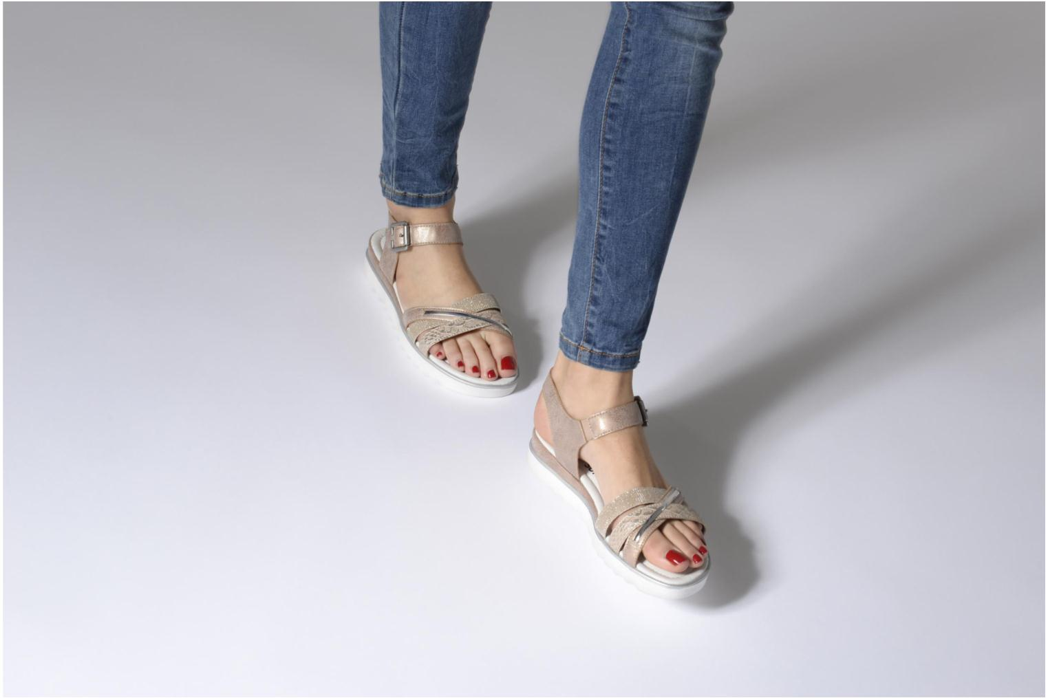 Sandals Remonte Sophia D1151 Beige view from underneath / model view
