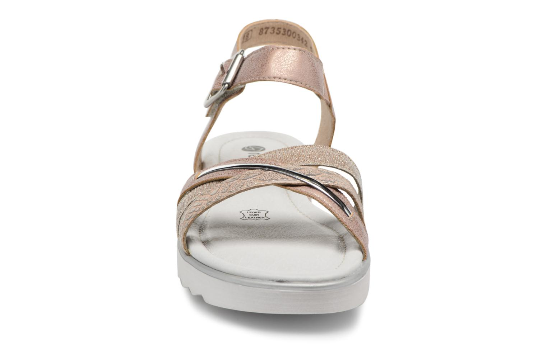 Sandales et nu-pieds Remonte Sophia D1151 Beige vue portées chaussures