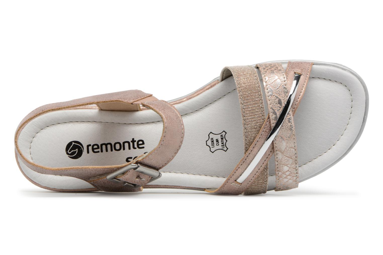 Sandales et nu-pieds Remonte Sophia D1151 Beige vue gauche