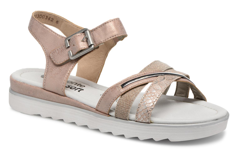 Sandals Remonte Sophia D1151 Beige detailed view/ Pair view