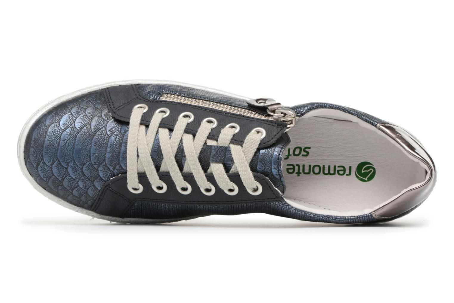 Trainers Remonte Hale D5810 Blue view from the left