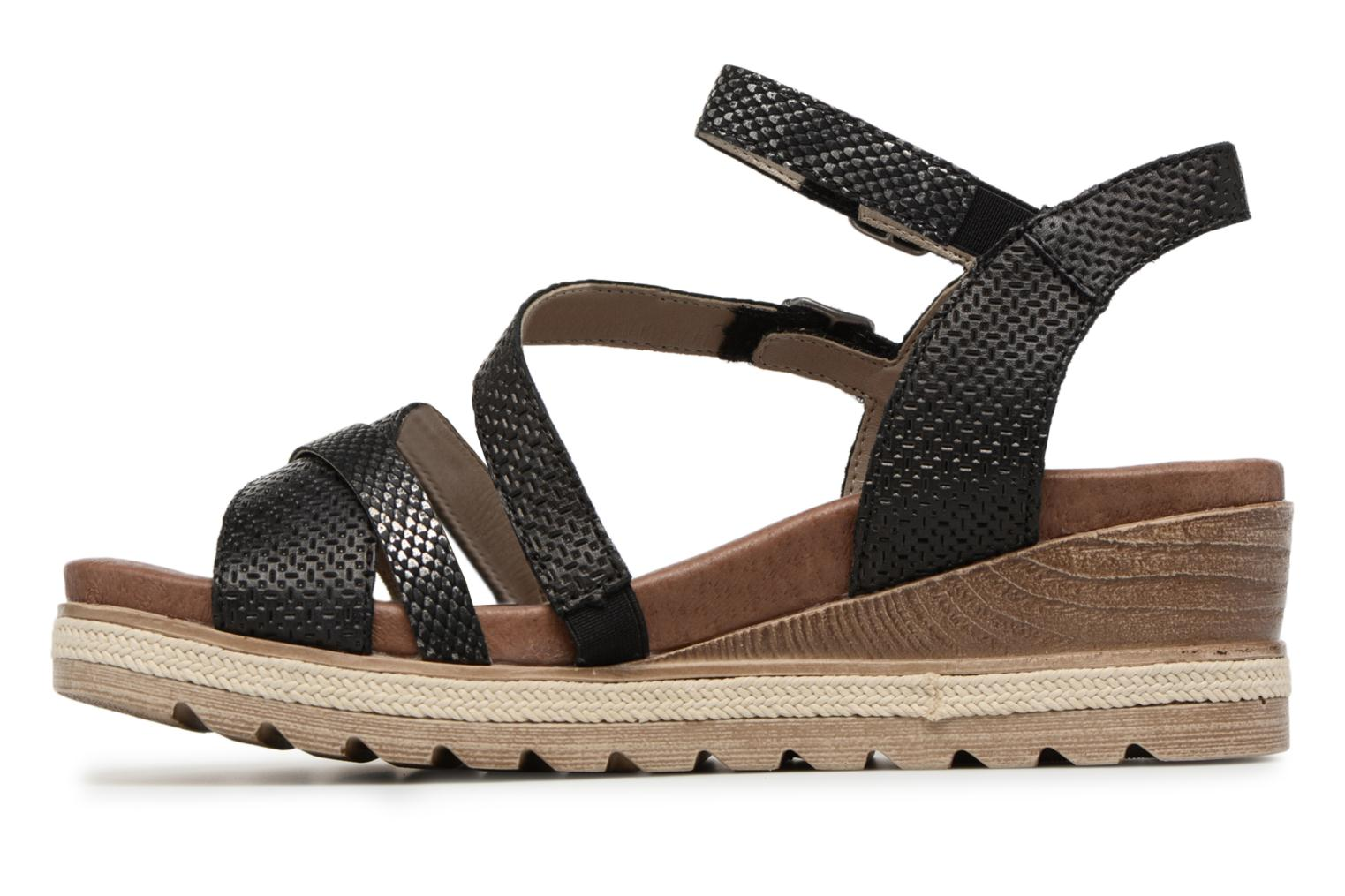 Sandals Remonte Jada D6356 Black front view