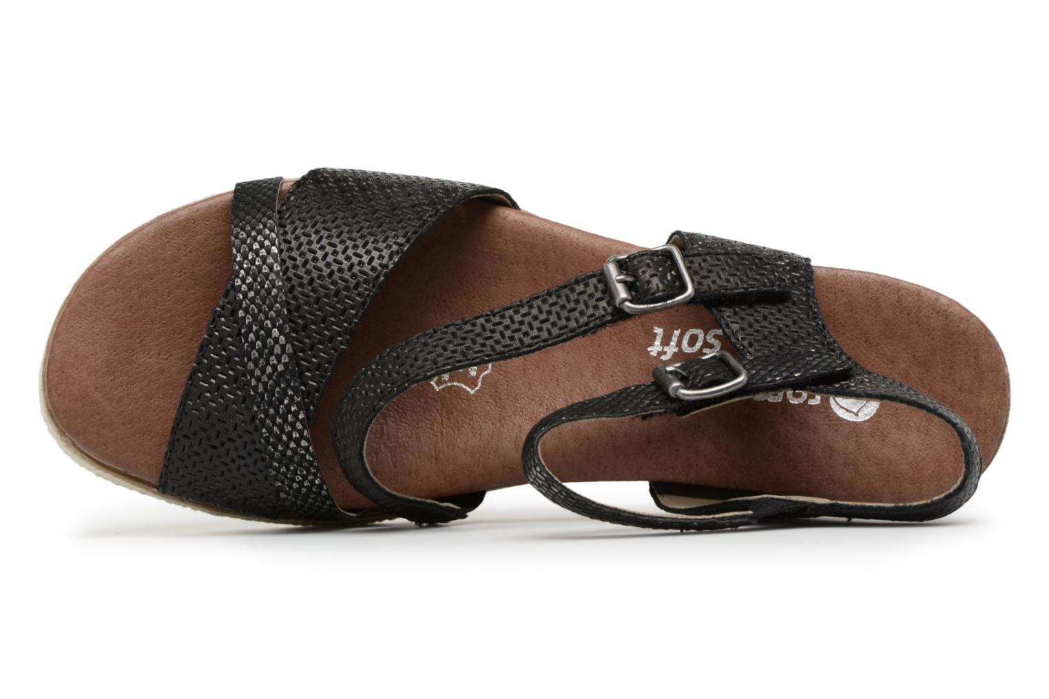 Sandals Remonte Jada D6356 Black view from the left