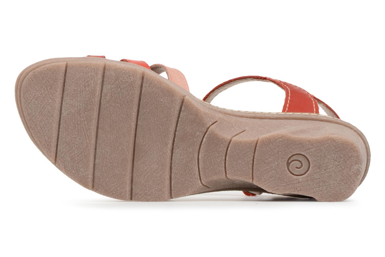 Sandales et nu-pieds Khrio Logaki mohair fire Rouge vue haut