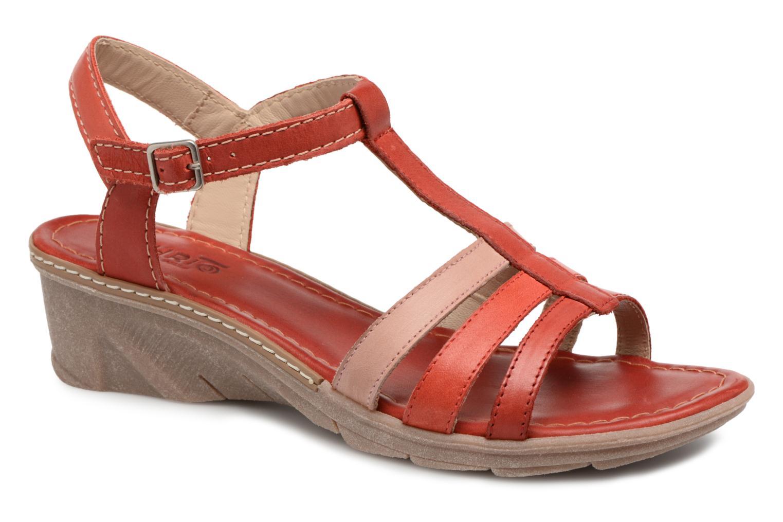 Sandales et nu-pieds Khrio Logaki mohair fire Rouge vue détail/paire