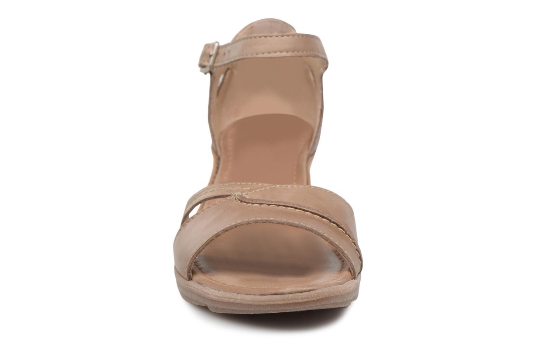 Sandales et nu-pieds Khrio Paorla mohair taupe Beige vue portées chaussures