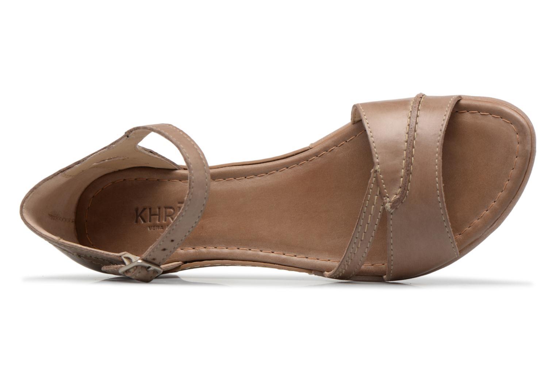 Sandales et nu-pieds Khrio Paorla mohair taupe Beige vue gauche
