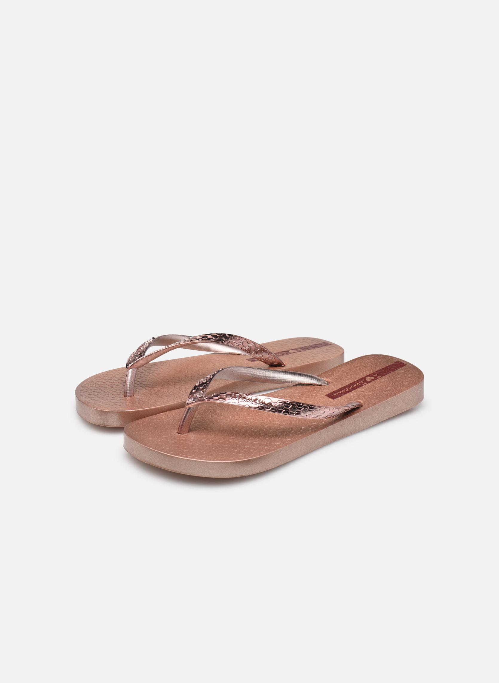 Tongs Ipanema Glam Or et bronze vue bas / vue portée sac