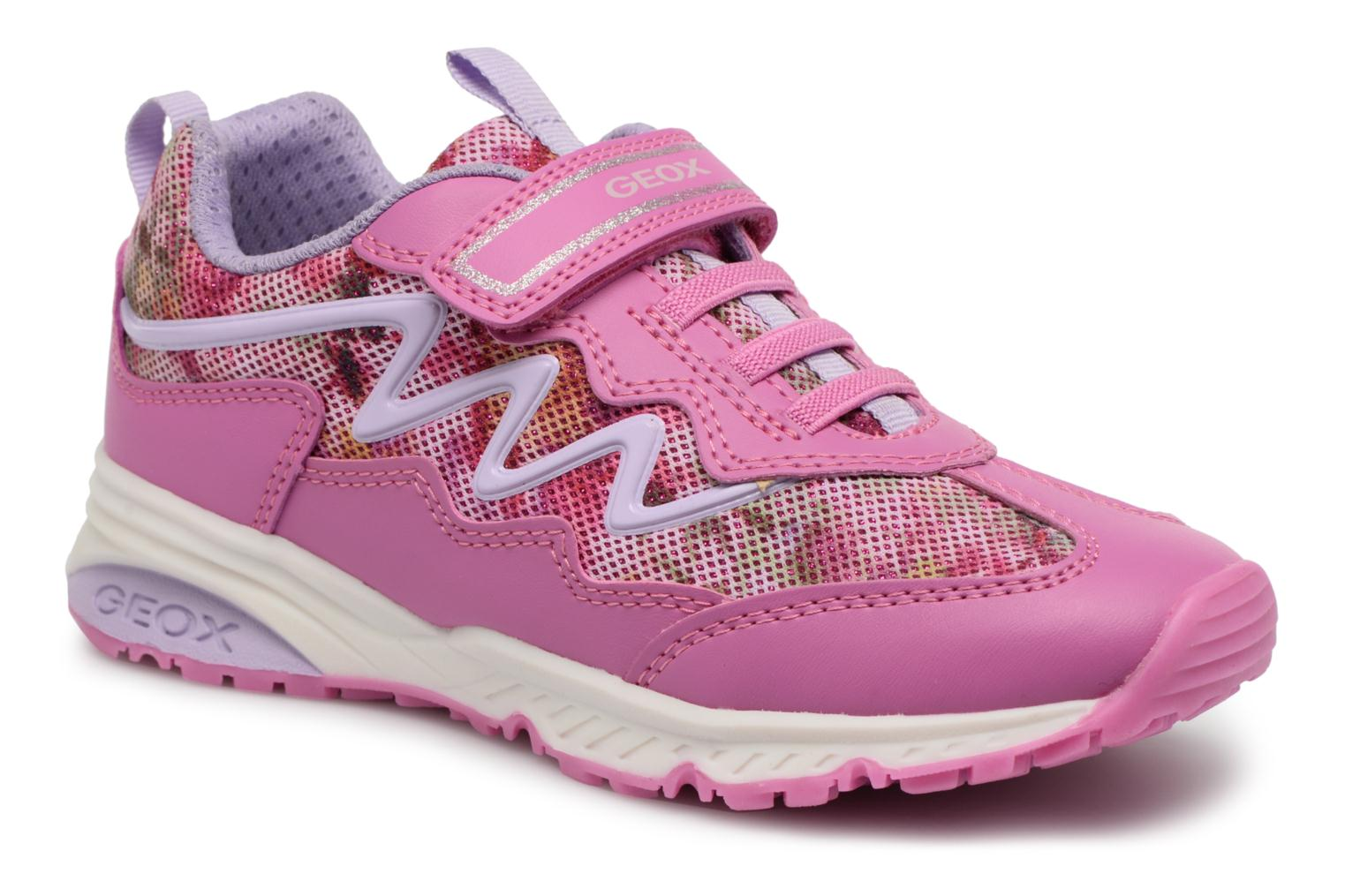 Trainers Geox J Bernie G. A J8211A Pink detailed view/ Pair view
