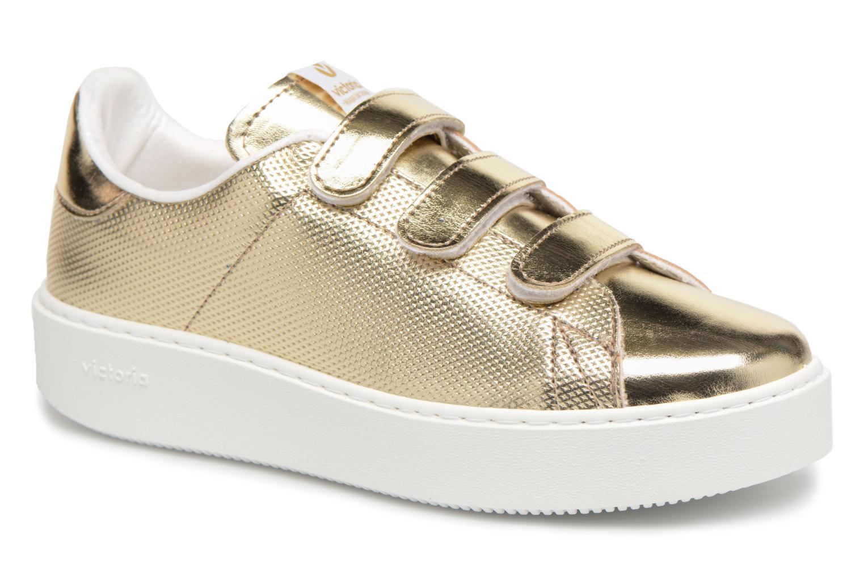 Zapatos casuales salvajes Victoria Deportivo Metalico Velcros (Oro y bronce) - Deportivas en Más cómodo