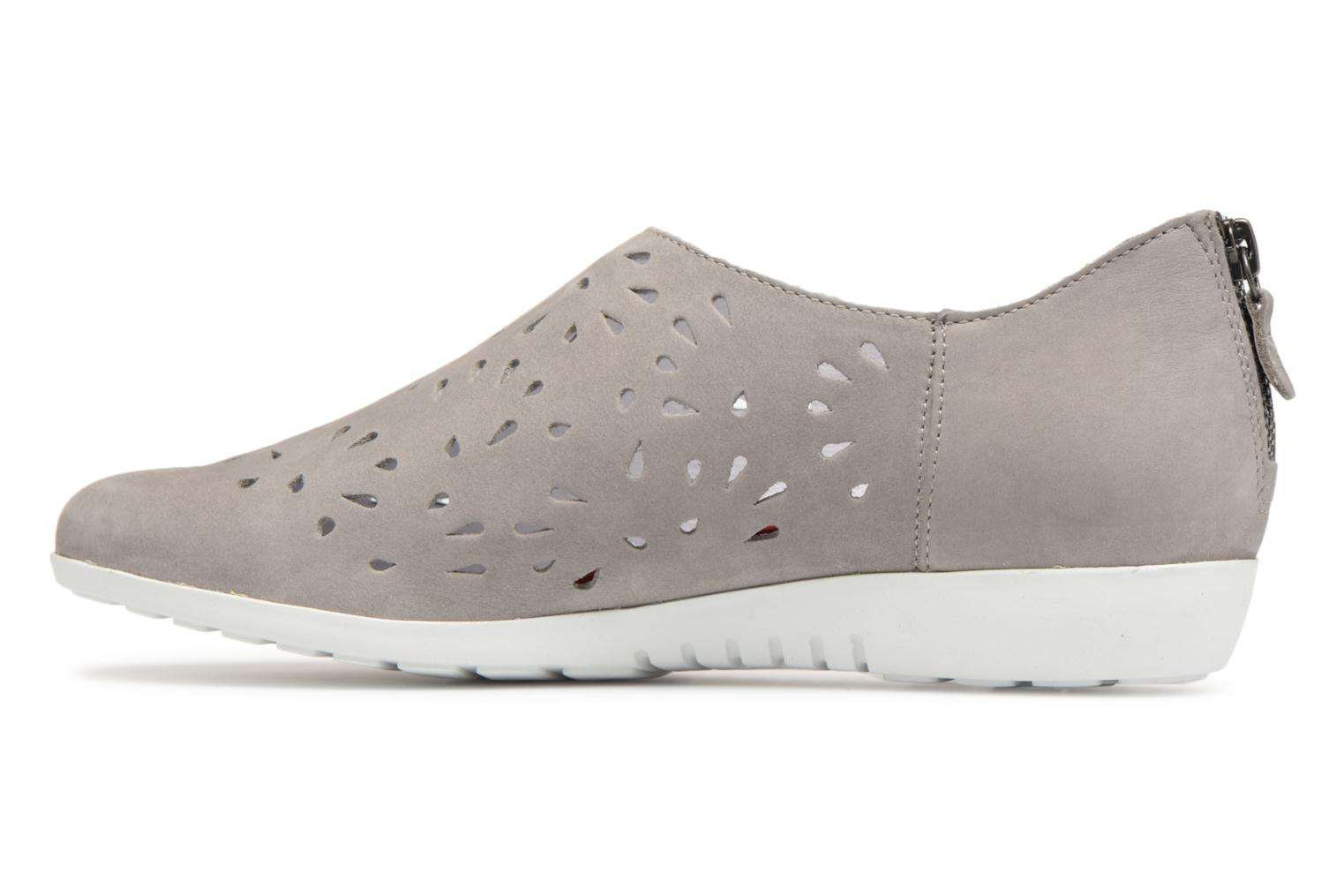 Mocassins Mephisto Dina Perf Gris vue face