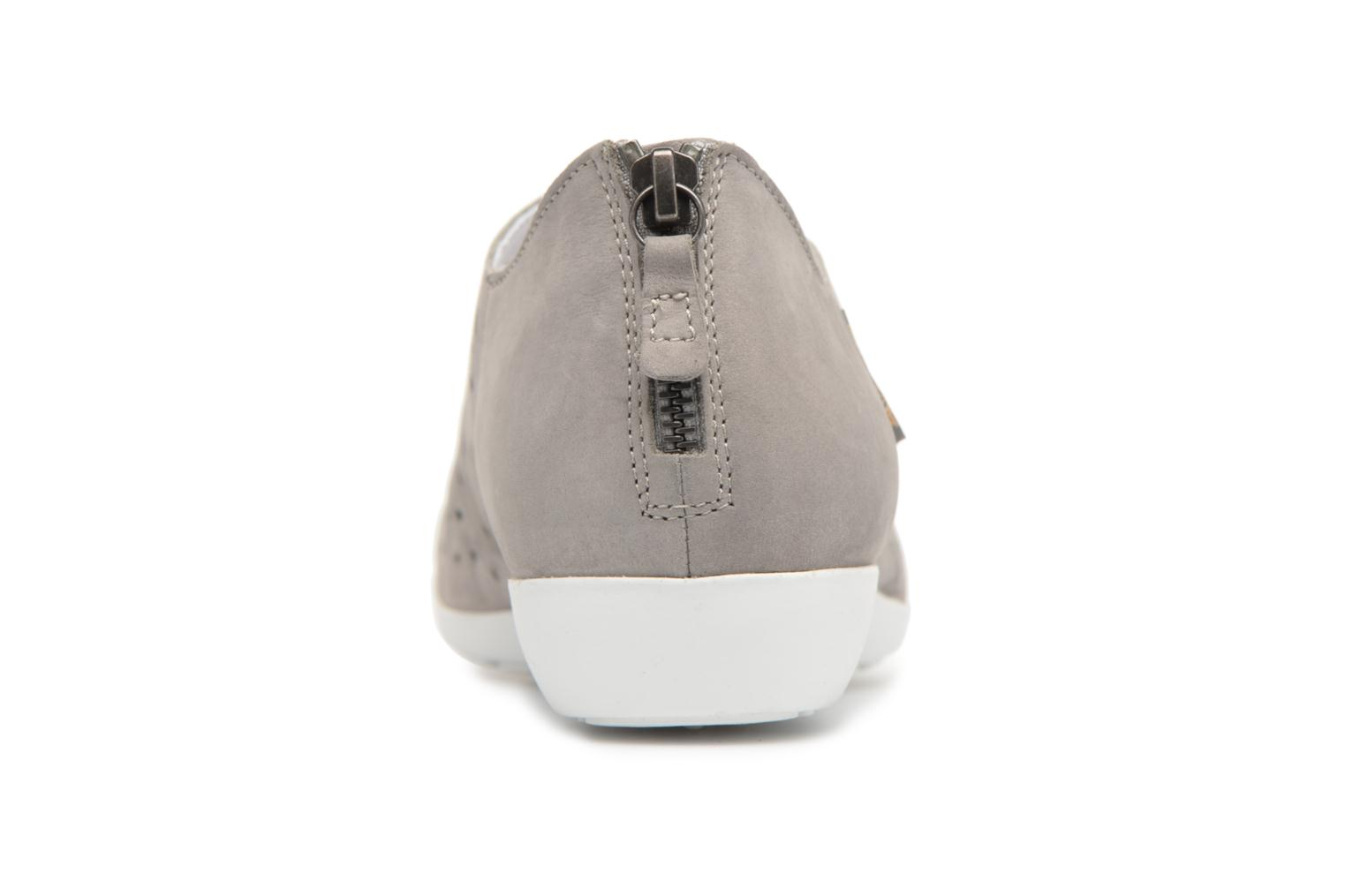 Mocassins Mephisto Dina Perf Gris vue droite