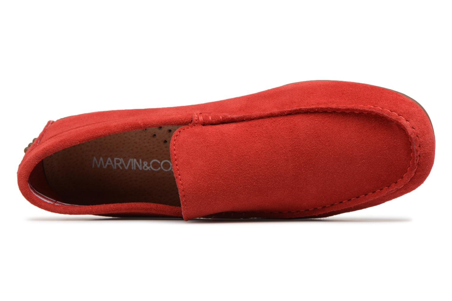Loafers Marvin&co Suttino Red view from the left