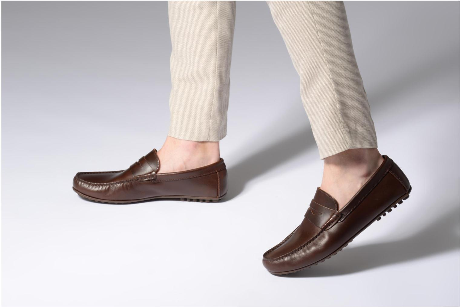 Loafers Marvin&co Slowlife Brown view from underneath / model view