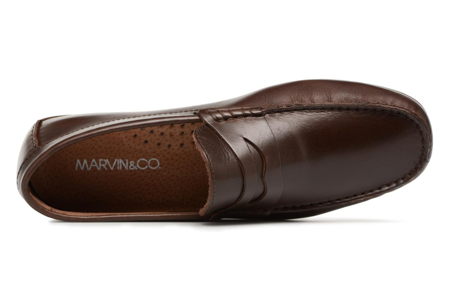 Mocassins Marvin&Co Slowlife Marron vue gauche