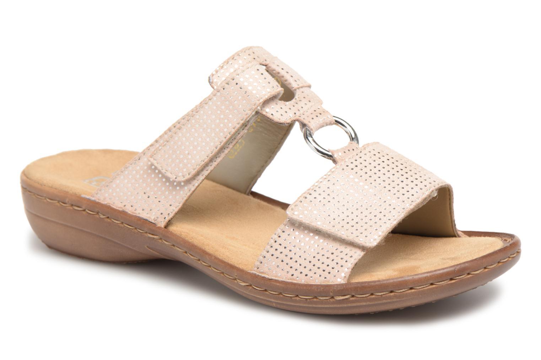 Grandes descuentos últimos zapatos Rieker Holly 608P9 (Beige) - Zuecos Descuento