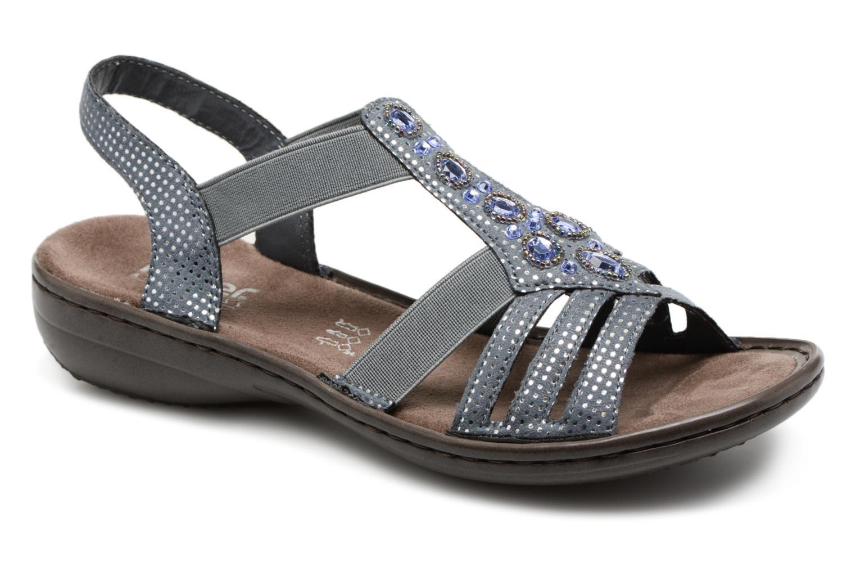 Sandaler Rieker Hana 60813 Blå detaljeret billede af skoene