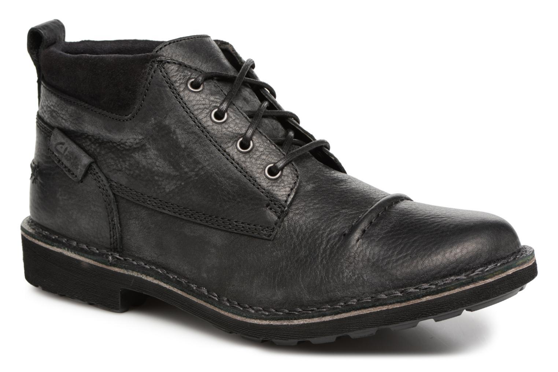 Bottines et boots Clarks Lawes Top Noir vue détail/paire