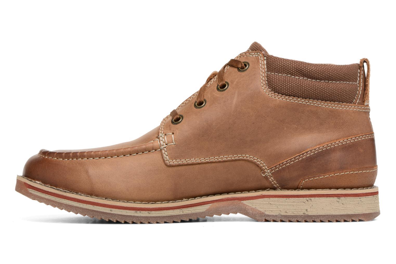Boots en enkellaarsjes Clarks Katchur Top Bruin voorkant