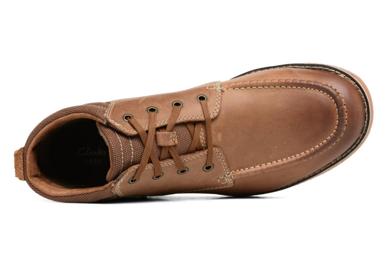 Boots en enkellaarsjes Clarks Katchur Top Bruin links