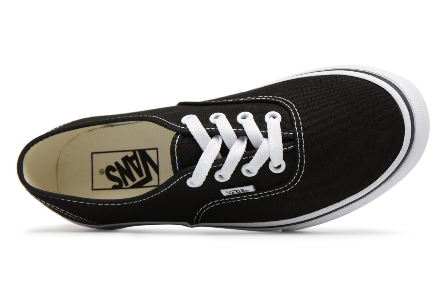 Baskets Vans Authentic Platform 2.0 Noir vue gauche